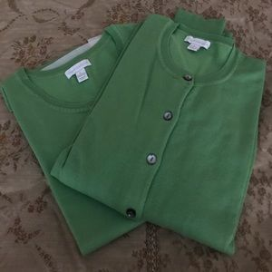Charter club grass green twinset size Large